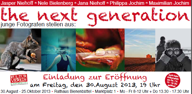 Fotoausstellung - the next generation - im Rathaus Bienenbüttel